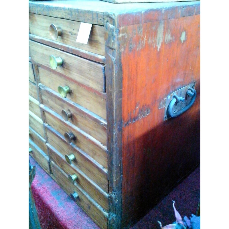 16 Drawer Chest New Zealand Vintage Collectables
