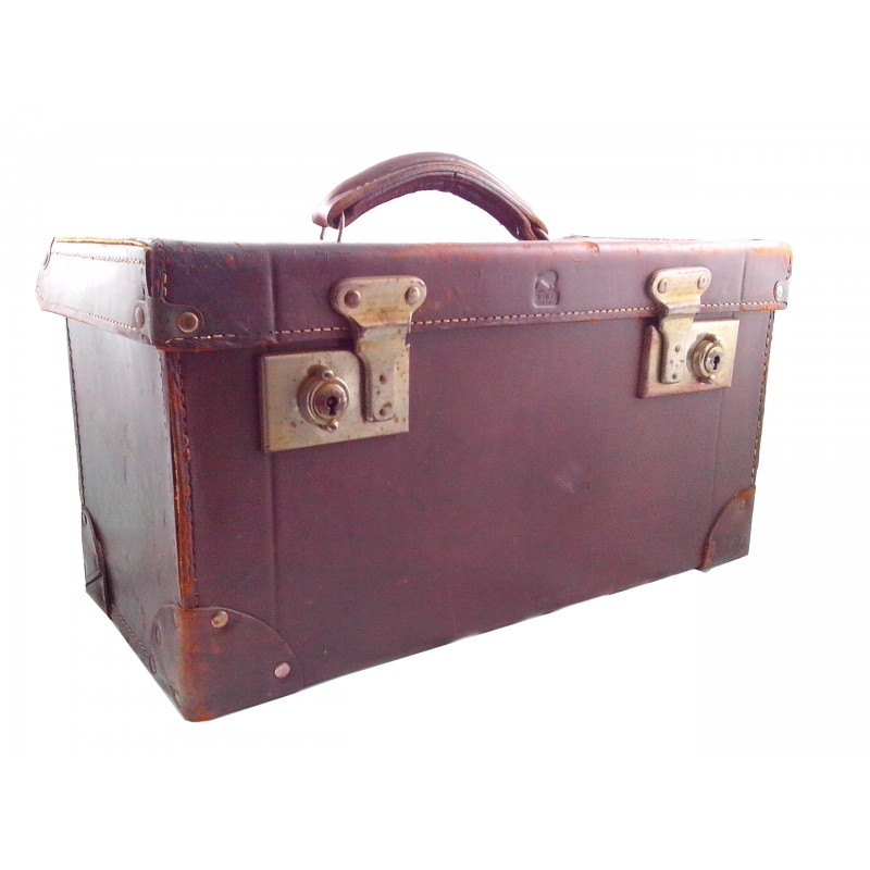 Leather Suitcase - New Zealand Vintage Collectables, Antiques & Retro