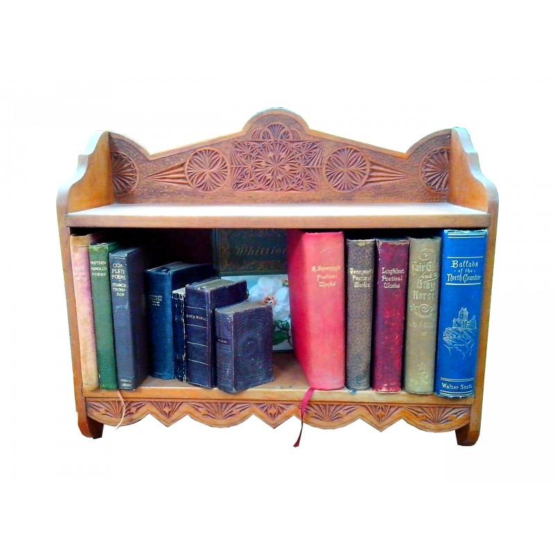 Carved bookshelf new zealand vintage collectables