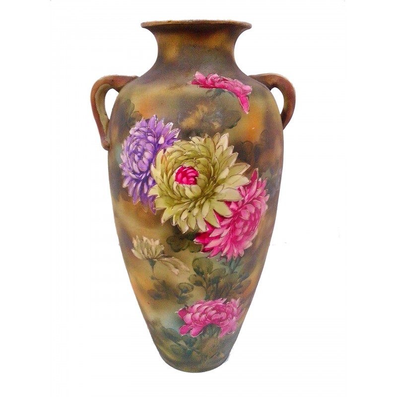 Tall Painted Vase New Zealand Vintage Collectables Antiques Retro