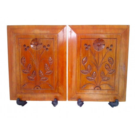 Pair of Kauri Panels from New Zealand Collectables, dealers in antique  furniture, retro furniture - Kauri Panels - New Zealand Vintage Collectables, Antiques & Retro