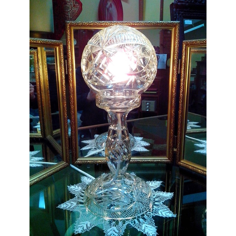 Crystal Lamp New Zealand Vintage Collectables Antiques Retro